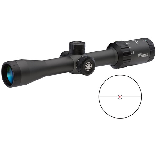 SIG SAUER 2-7x32 WHISKEY3 Riflescope (Illuminated HellFire CirclePlex Reticle, Matte Black)