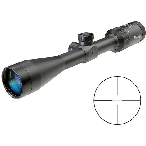 SIG SAUER 3-9x40 WHISKEY3 Riflescope (QuadPlex Reticle, Matte Black)