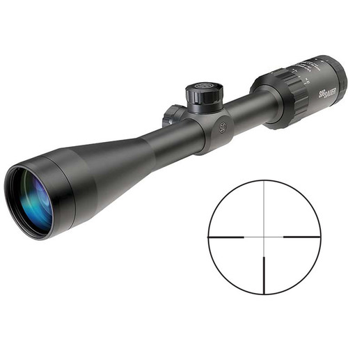 SIG SAUER 3-9x40 WHISKEY3 Riflescope (TriPlex Reticle, Matte Black)