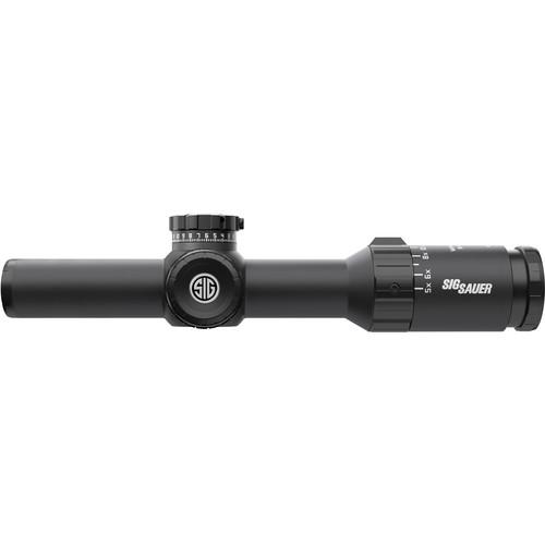 SIG SAUER 1-5x24 WHISKEY5 Riflescope (HellFire QuadPlex Illuminated Reticle, Matte Black)