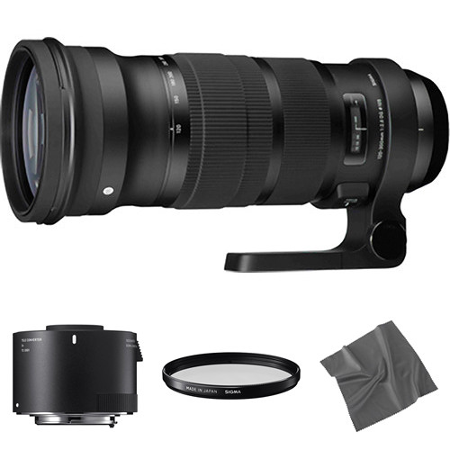 Sigma 120-300mm f/2.8 DG OS HSM Lens with 2x Teleconverter Kit for Sigma SA