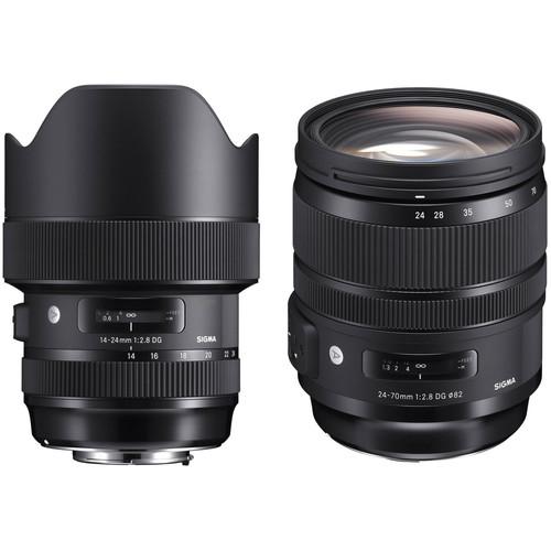 Sigma 14-24mm and 24-70mm f/2.8 Art Lens Kit for Sigma SA