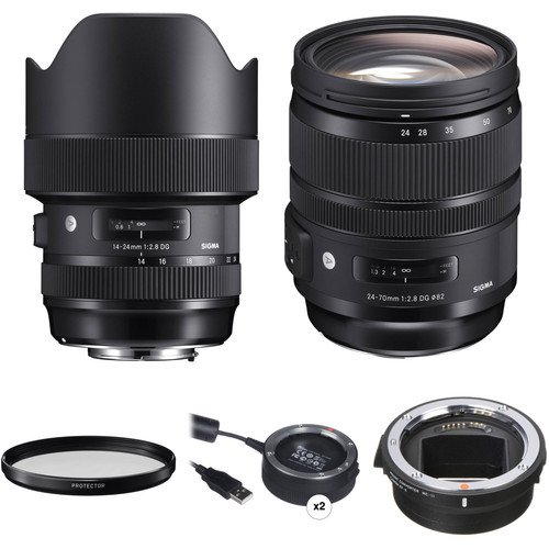 Sigma 14-24mm and 24-70mm f/2.8 Art Lens Kit for Canon EF