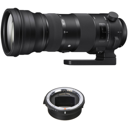 Sigma 150-600mm f/5-6.3 DG OS HSM Sports Lens for Canon EF and MC-11 Mount Converter/Lens Adapter for Sony E Kit