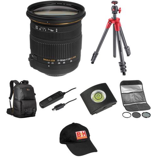 Sigma 17-50mm f/2.8 EX DC OS HSM Lens Landscape Kit for Nikon F