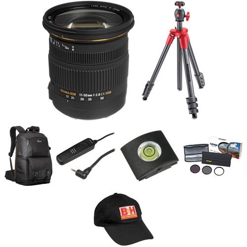 Sigma 17-50mm f/2.8 EX DC OS HSM Lens Landscape Kit for Canon EF