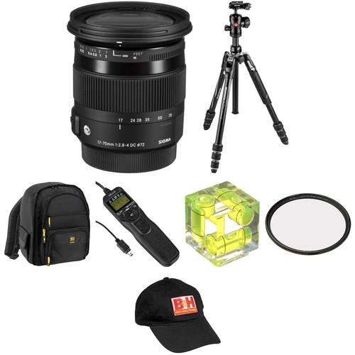 Sigma 17-70mm f/2.8-4 DC Macro OS HSM Contemporary Lens Landscape Kit for Nikon F