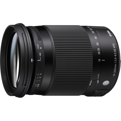 Sigma 18-300mm f/3.5-6.3 DC MACRO HSM Contemporary Lens for Pentax K