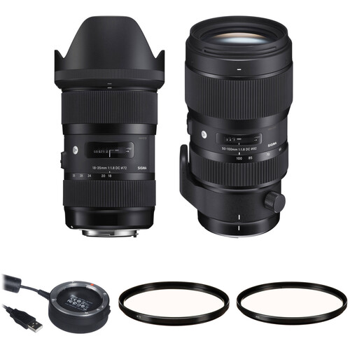 Sigma 18-35mm f/1.8 and 50-100mm f/1.8 DC HSM Art Lenses Kit for Canon EF