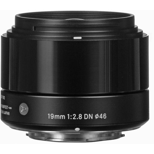 Sigma 19mm f/2.8 DN Lens for Micro Four Thirds Cameras (Black)