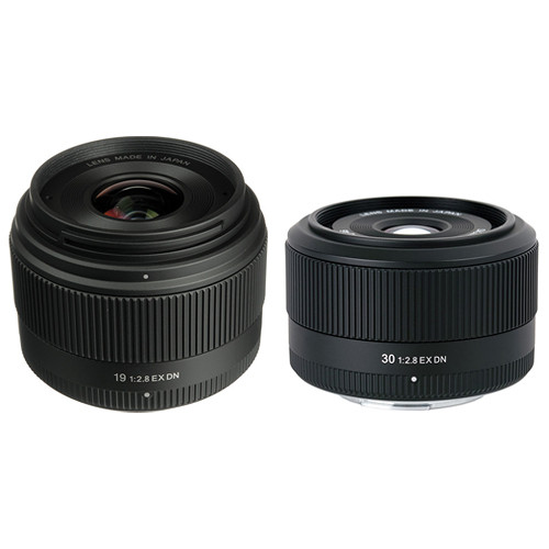 Sigma 19mm f/2.8 EX DN and 30mm f/2.8 EX DN for Micro Four Thirds Lens Kit