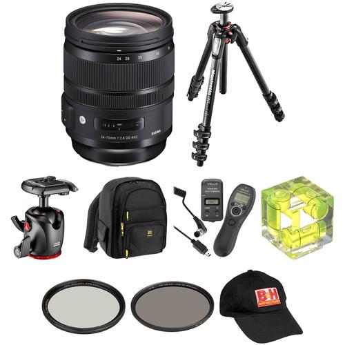 Sigma 24-70mm f/2.8 DG OS HSM Art Lens Landscape Kit for Nikon F
