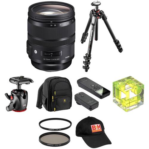 Sigma 24-70mm f/2.8 DG OS HSM Art Lens Landscape Kit for Canon EF