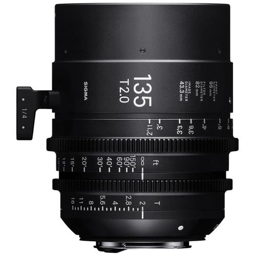 Sigma 135mm T2 Fully Luminous FF High-Speed Prime (EF, Feet)