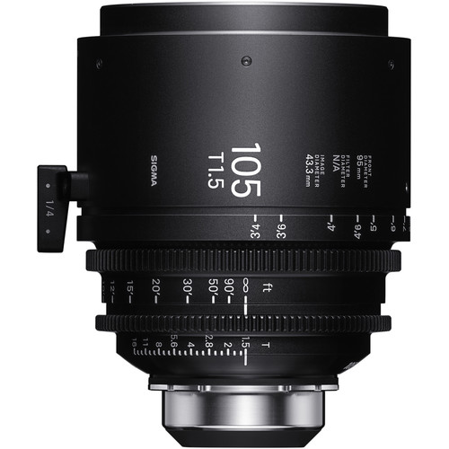 Sigma 105mm T1.5 FF High-Speed Art Prime 2 Lens with /i Technology (PL Mount, Feet)