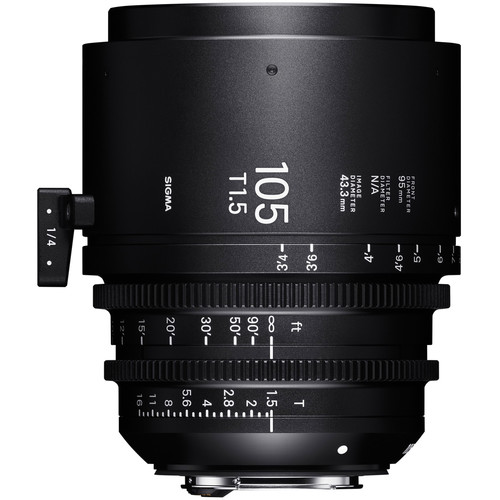 Sigma 105mm T1.5 FF EF Mount Fully Luminous High-Speed Prime Lens (Feet)
