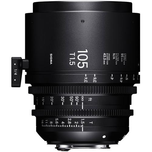 Sigma 105mm T1.5 FF Sony E Mount Fully Luminous High-Speed Prime Lens (Feet)