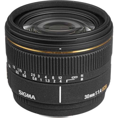 Sigma 30mm f/1.4 EX DC Autofocus Lens for Digital Camera