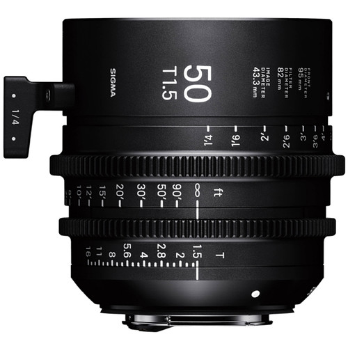 Sigma 50mm T1.5 Fully Luminous FF High-Speed Prime (Sony E-Mount, Feet)