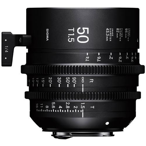 Sigma 50mm T1.5 Fully Luminous FF High-Speed Prime (PL Mount, Feet)