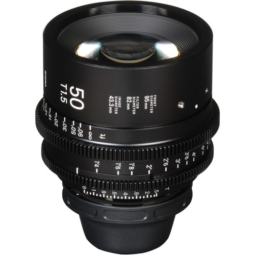 Sigma 50mm T1.5 FF High Speed Prime Lens (Canon EF Mount, Meters)