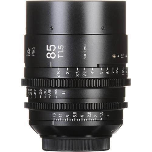 Sigma 85mm T1.5 FF High-Speed Prime (EF Mount, Feet)