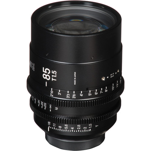 Sigma 85mm T1.5 FF High Speed Prime Lens (Canon EF Mount, Meters)