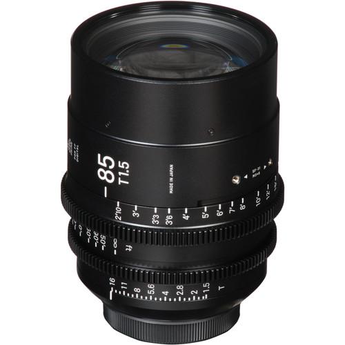 Sigma 85mm T1.5 FF High Speed Prime Lens (ARRI PL Mount, Meters)
