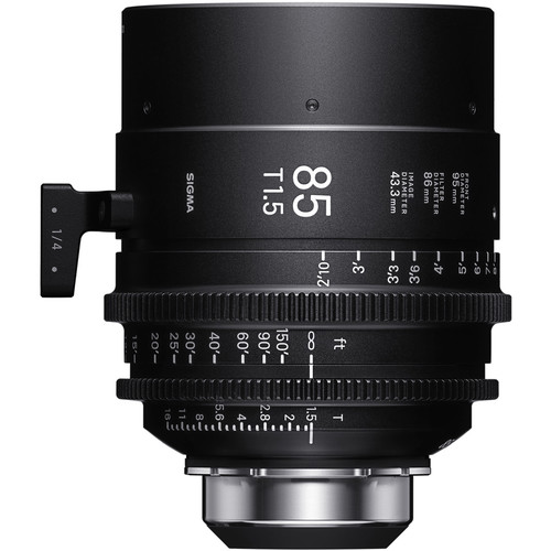 Sigma 85mm T1.5 FF High-Speed Art Prime 2 Lens with /i Technology (PL Mount, Meters)