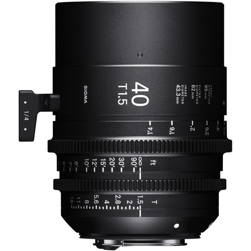 Sigma 40mm T1.5 FF Canon EF Mount Fully Luminous High-Speed Prime Lens (Feet)