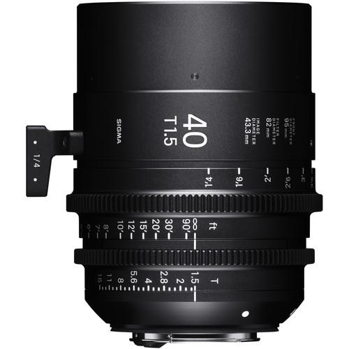 Sigma 40mm T1.5 FF Sony E Mount Fully Luminous High-Speed Prime Lens (Feet)