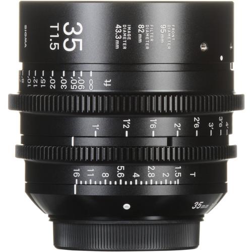 Sigma 35mm T1.5 FF High-Speed Prime (EF Mount, Feet)