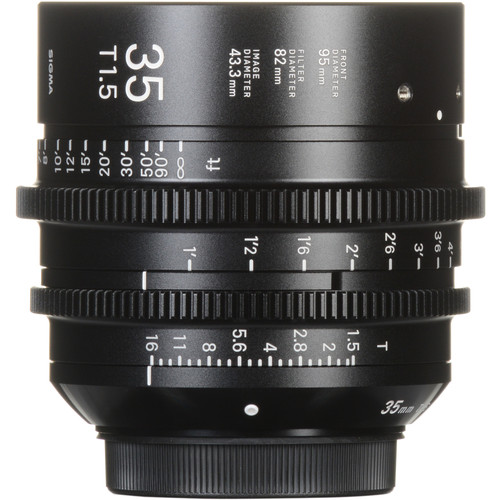 Sigma 35mm T1.5 FF High-Speed Prime (PL Mount, Feet)