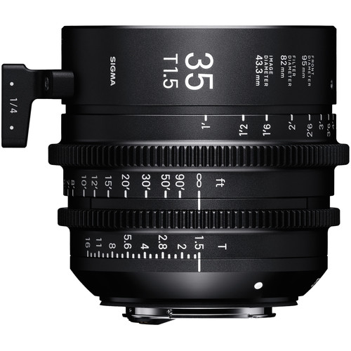 Sigma 35mm T1.5 Fully Luminous FF High-Speed Prime (PL Mount, Feet)