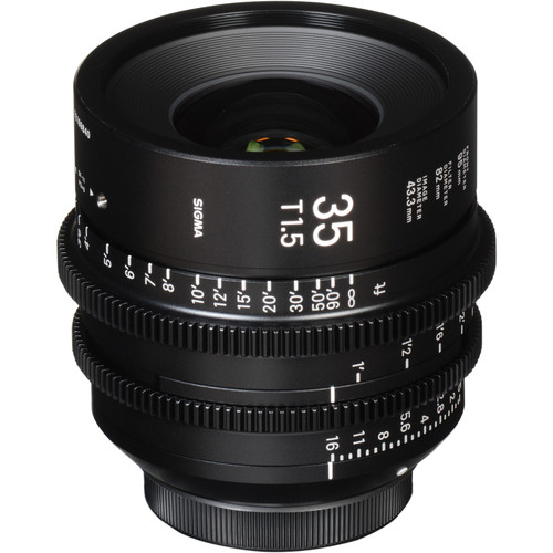 Sigma 35mm T1.5 FF High Speed Prime Lens (Canon EF Mount, Meters)
