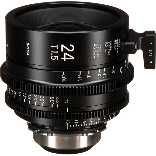 Sigma 24mm T1.5 FF High-Speed Art Prime 2 Lens with /i Technology (PL Mount, Feet)