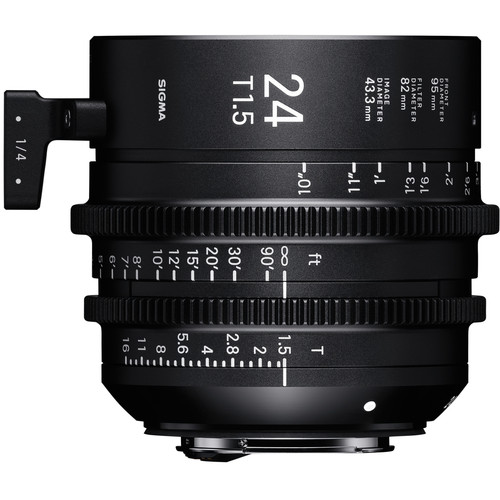 Sigma 24mm T1.5 Fully Luminous FF High-Speed Prime (EF, Feet)