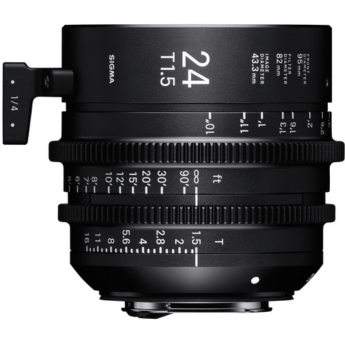 Sigma 24mm T1.5 FF High Speed Prime Lens (Canon EF Mount, Meters)