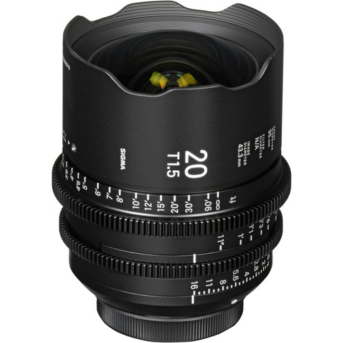 Sigma 20mm T1.5 FF High-Speed Prime (Sony E, Feet)