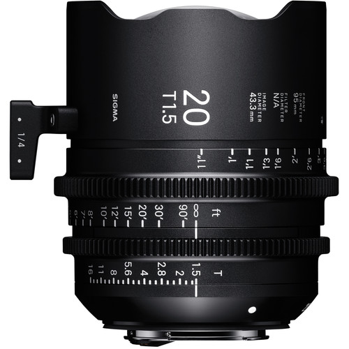 Sigma 20mm T1.5 Fully Luminous FF High Speed Prime Lens (ARRI PL Mount)