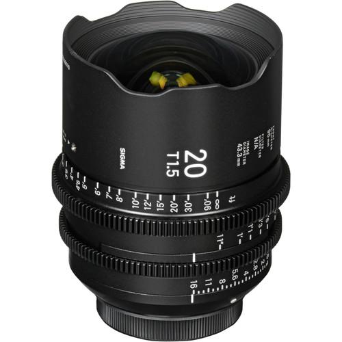 Sigma 20mm T1.5 Cine High-Speed Lens (PL, Metric)