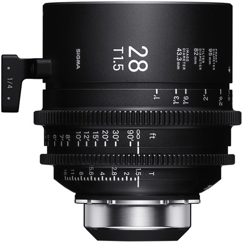 Sigma 28mm T1.5 FF High-Speed Art Prime 2 Lens with /i Technology (PL Mount, Meters)