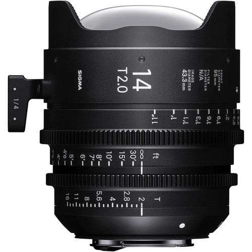 Sigma 14mm T2 Fully Luminous FF High-Speed Prime (Canon EF Mount, Feet)