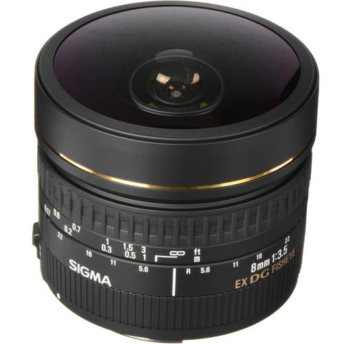 Sigma 8mm f/3.5 EX DG Circular Fisheye Lens for Canon EF