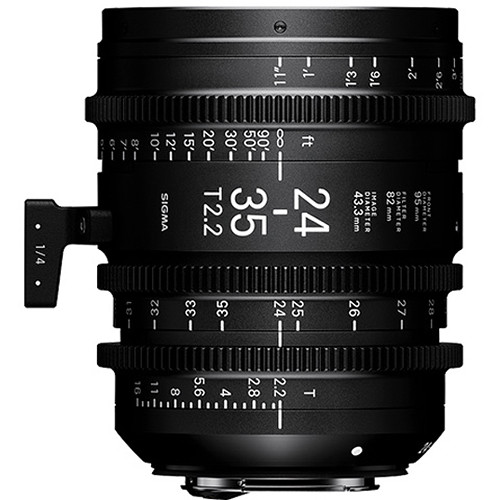 Sigma 24-35mm T2.2 FF Zoom Lens (Canon EF, Feet)
