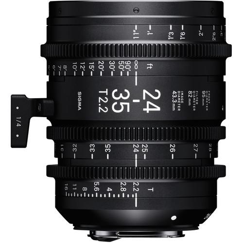 Sigma 24-35mm T2.2 Fully Luminous FF Zoom Lens (Canon EF, Feet)