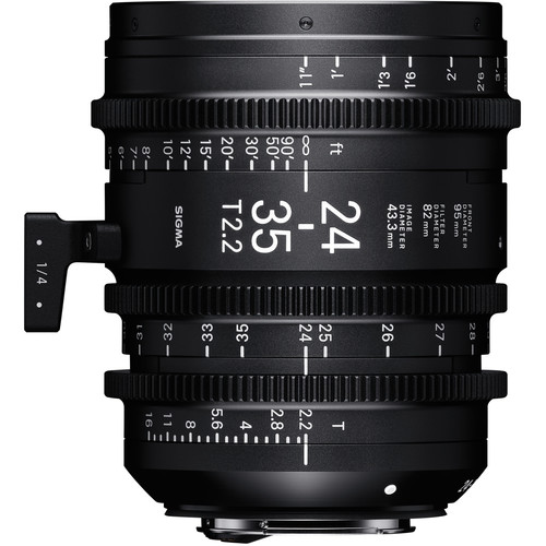 Sigma 24-35mm T2.2 Fully Luminous FF Zoom Lens (Canon EF, Feet)