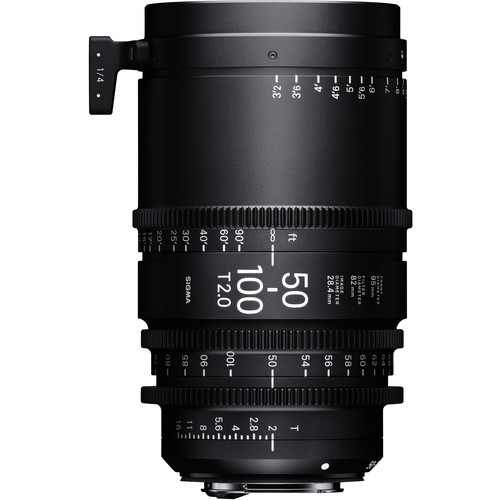 Sigma 50-100mm T2 Fully Luminous High-Speed Zoom Lens (Canon EF, Feet)
