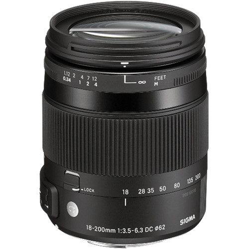 Sigma 18-200mm f/3.5-6.3 DC Macro HSM Contemporary Lens for Pentax K