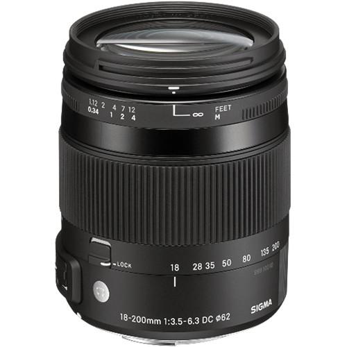 Sigma 18-200mm f/3.5-6.3 DC Macro OS HSM Contemporary Lens for Sigma SA